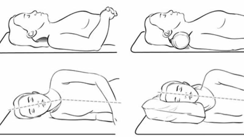 Поддержка шеи во время сна