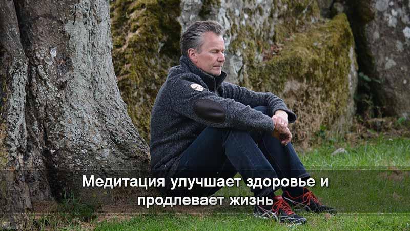 мужчина сидит спиной к дереву